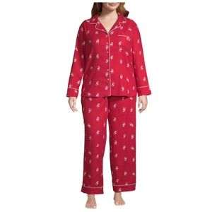 New Womens Plus Size PJ Set Liz Claiborne Reindeer